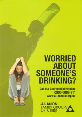 UK102  Worried About Someone's Drinking?  A5 poster